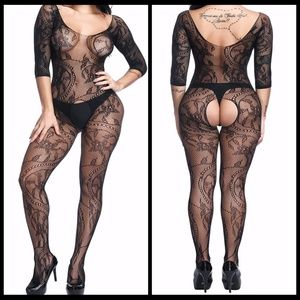 ❤️NEW Sexy Open Crotch Bodystocking Lingerie #L010